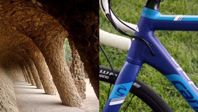 """!00 años median entre el Park Güel de Gaudí y  la forma de """"chapitel"""" del tubo inferior donde se une con el de dirección"""
