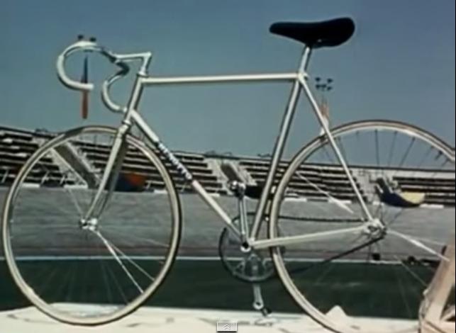La bicicleta de Ole Ritter en el Velódromo Olímpico de la Ciudad de México en 1974