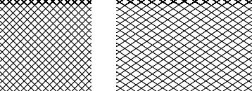 El tejido en sentido diagonal es flexible, pues se puede deformar