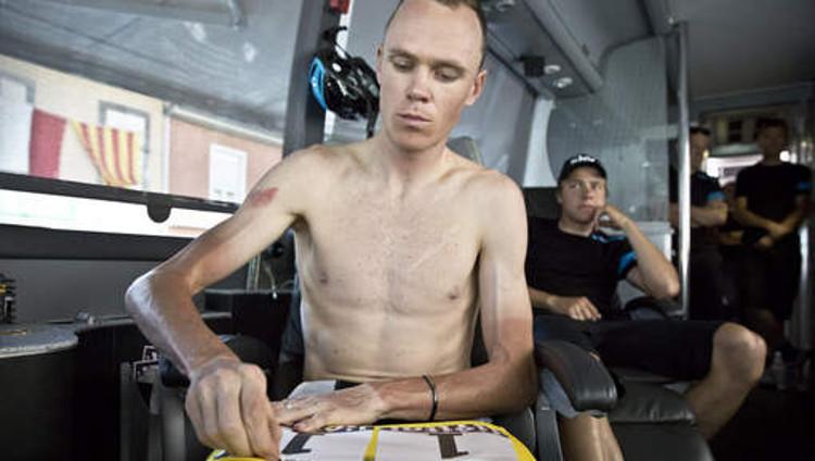 Algunos profesionales del ciclismo llevan la delgadez al extremo, en la imagen Chris Frome